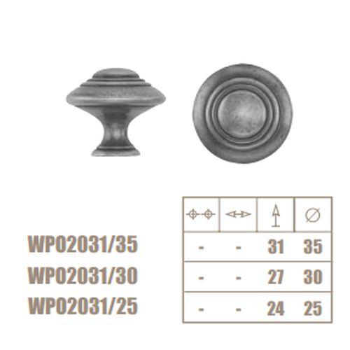 Ручка-кнопка римское золото d=30мм