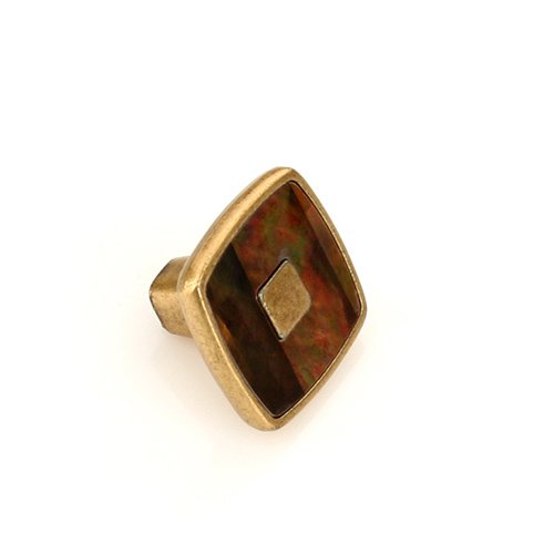 Ручка-кнопка старая бронза/искусств. жемчуг