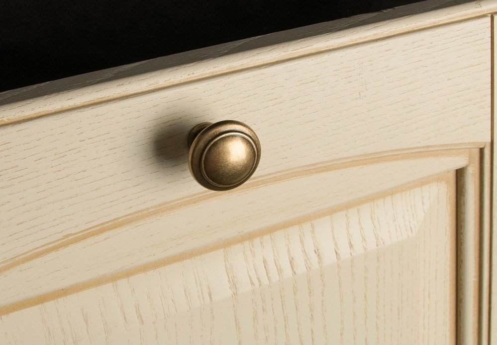 Ручка-кнопка стар.бронза d=30мм
