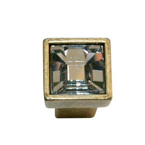 Ручка-кнопка стар.бронза/кристалл