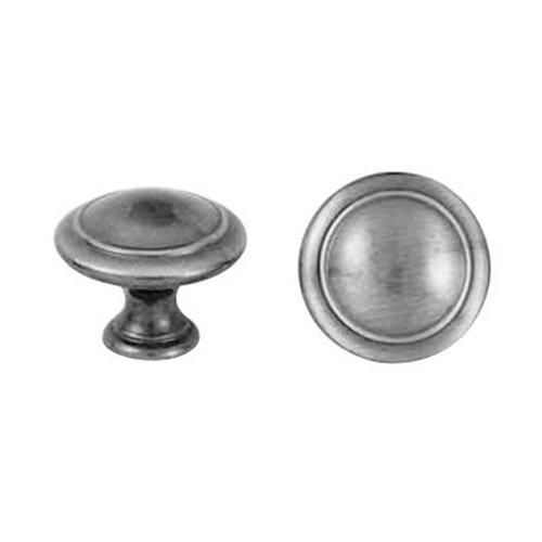 Ручка-кнопка стар.серебро d=30мм