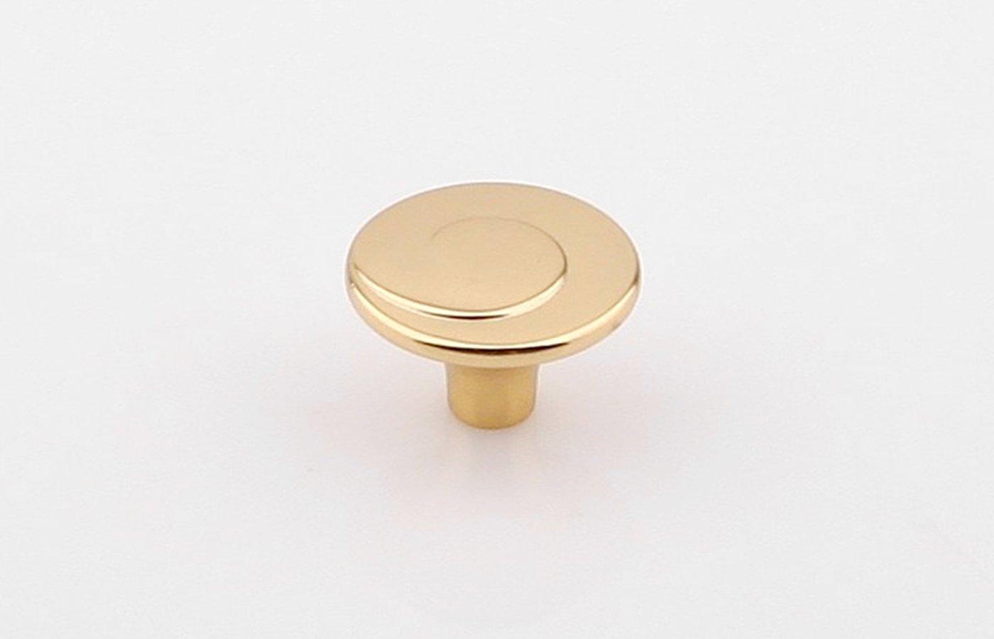 Ручка-кнопка золото пол. 30х20мм