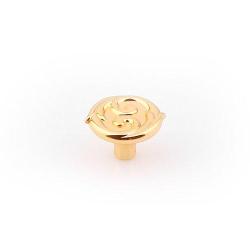 Ручка-кнопка золото полированное