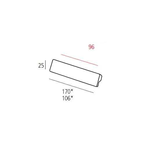 Ручка L=106мм, м/о 96мм, никель сатин пол.