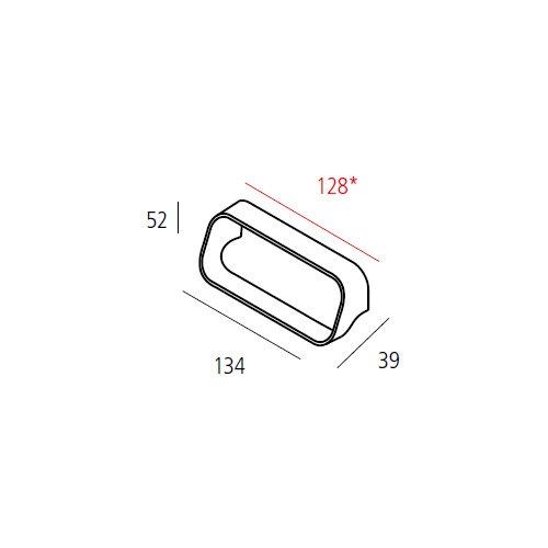 Ручка, L=134мм, м/о 128мм, хром пол.