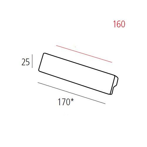 Ручка L=170мм, м/о 160мм, никель сатин пол.