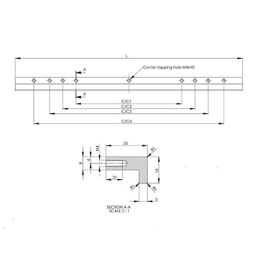 Ручка LOOP 375х25хh16мм, м/о 128/330 мм, нерж.