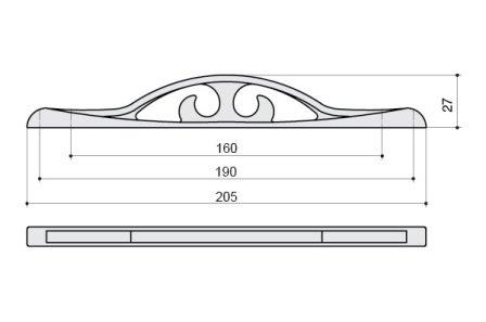 Ручка, матовая бронза, м/о 160-192мм