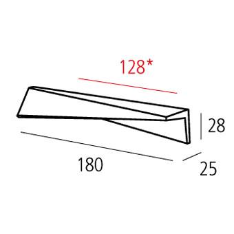 Ручка м/о 128мм, хром