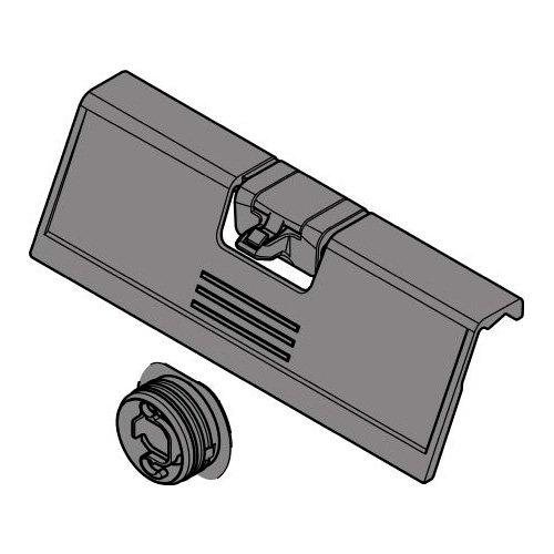 Ручка на переднюю панель с фиксацией, серый (пластик)