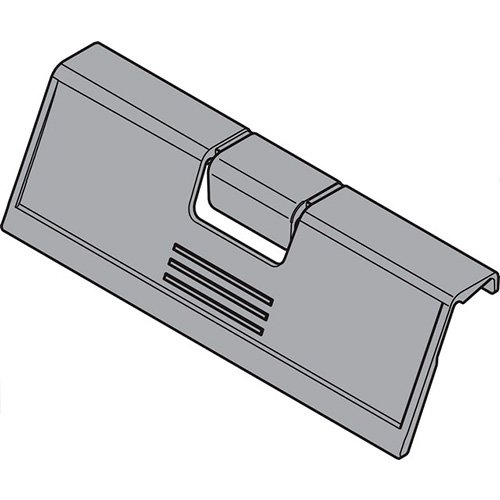 Ручка на переднюю панель, серый (пластик)