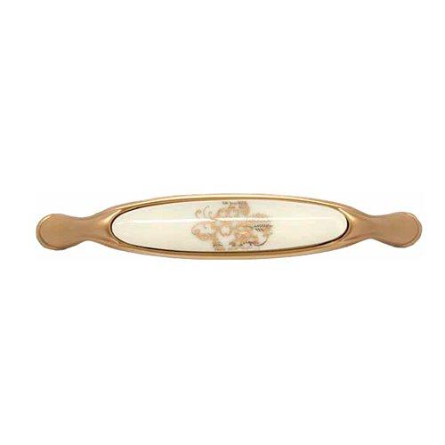 Ручка римське золото/порцелян L=159мм, м/о 128мм