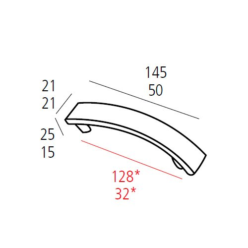 Ручка-скоба м/о 128мм, хром пол.