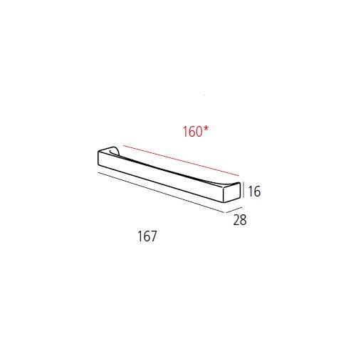 Ручка-скоба м/о 160мм, нікель сатін пол.