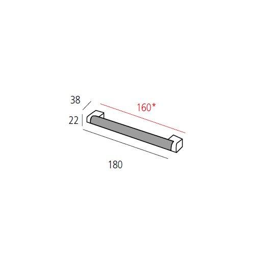 Ручка-скоба м/о 160мм, никель сатин пол.