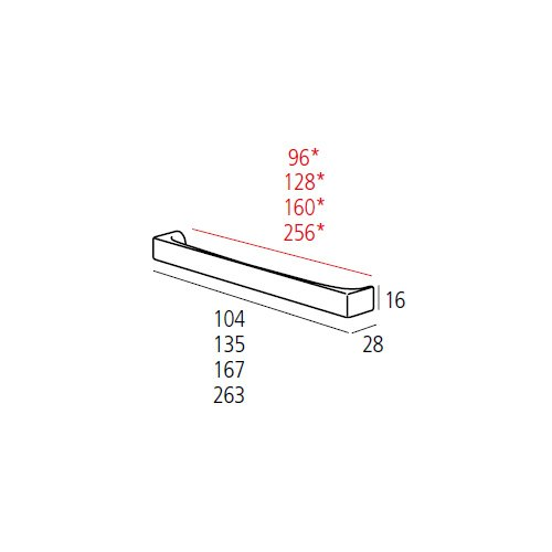Ручка-скоба м/о 256мм, нікель сатін пол.