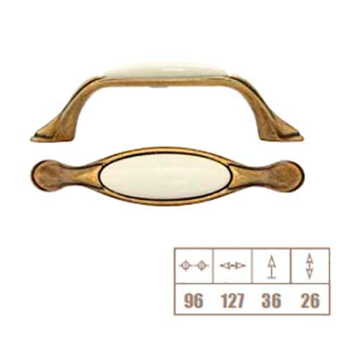 Ручка слоновая кость кантри/фарфор L=125, м/о 96мм