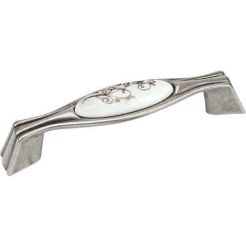 Ручка ст.серебро/фарфор L=125мм, м/о 96мм