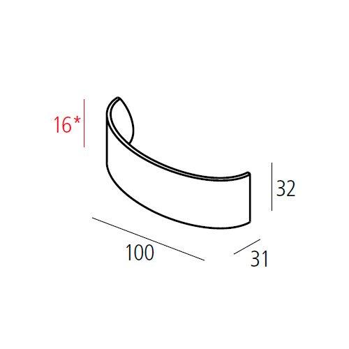 Ручка TAKE м/о 16мм, никель сатин пол.