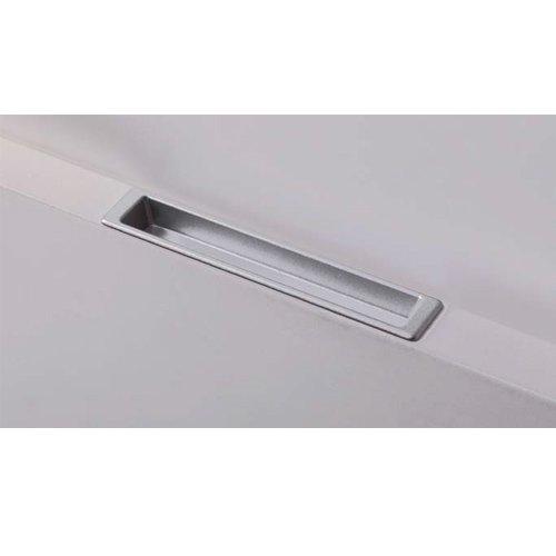 Ручка врезная L=105мм, м/о 96мм, металик мат.
