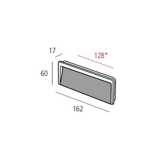 Ручка врезная м/о 128мм, хром пол.