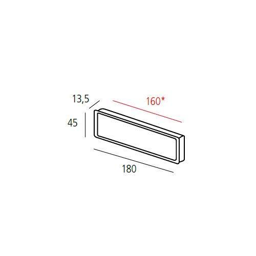 Ручка врезная потайная, м/о 160мм, алюминий
