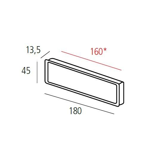 Ручка врезная потайная м/о 160мм, никель сатин пол.