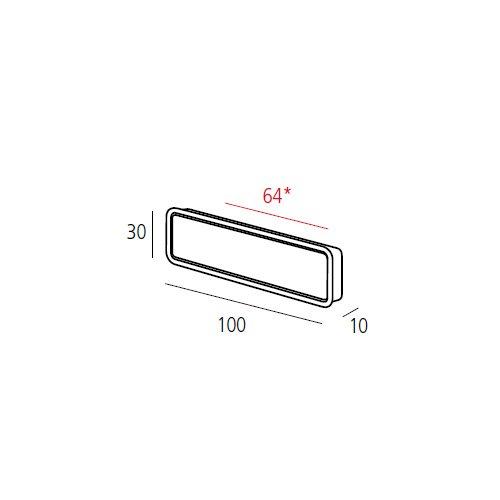 Ручка врезная потайная м/о 64мм, никель сатин пол.