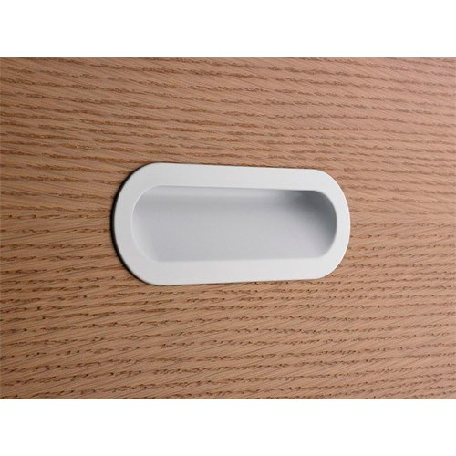 Ручка врезная SMOOTH м/о 128мм, белый мат.