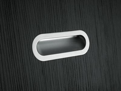 Ручка врізна SMOOTH м/о 128мм, білий мат.
