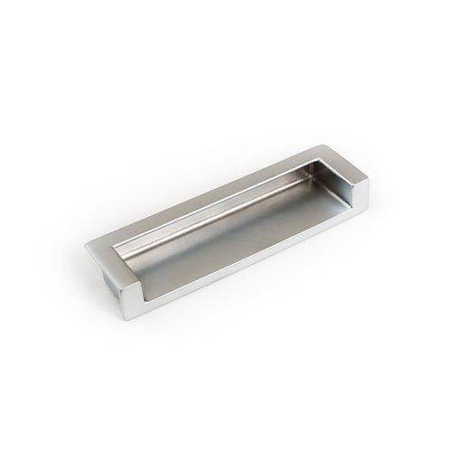 Ручка врезная в торец м/о 128мм, алюминий