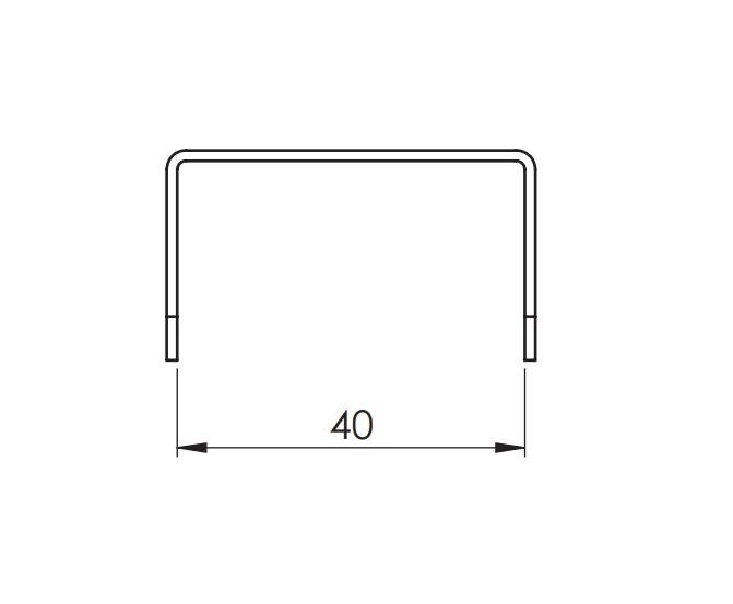 Шаблон для сверления горизонтального профиля (пластик)