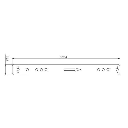 Шаблон для сверления вертикального профиля MTPV (пластик)