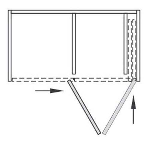 Система HAWA-Folding Concepta 25, L=1420мм, H=1851-2600мм, правая, черный анод.