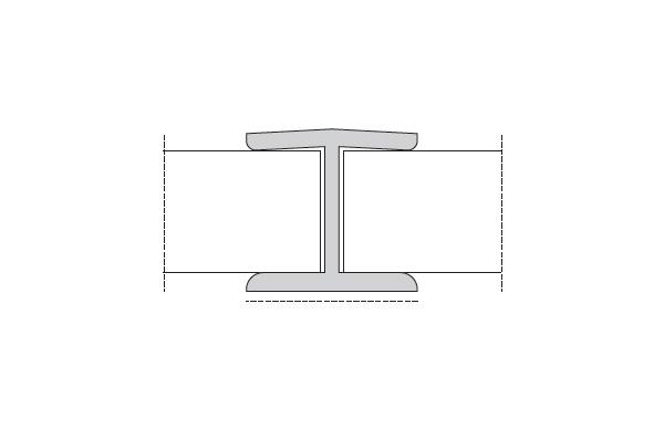 Соед.элемент встык H=150мм к зеркальному цоколю