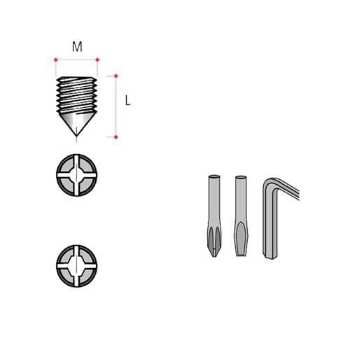 Соед.винт M8, L=10мм (сталь), альт. прGR81FZ0000088