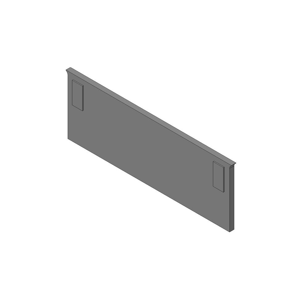 Стенка соединительная для ORGA-LINE 194мм (пластик), тем.-серый