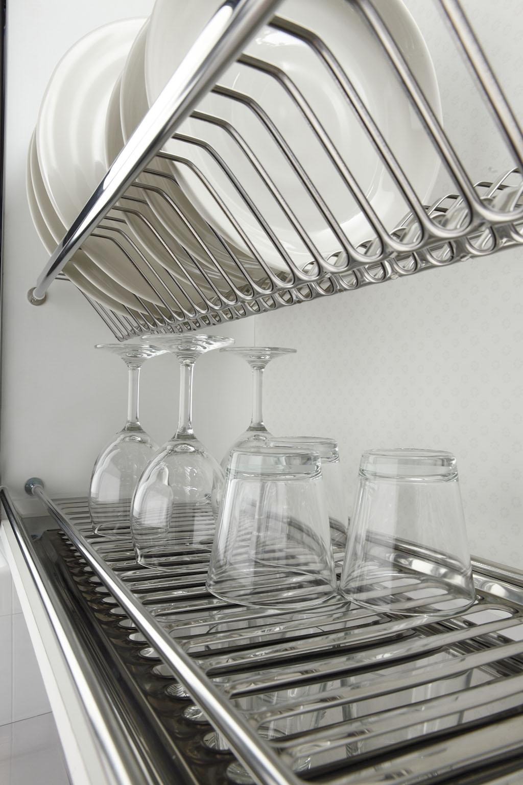 Сушка для посуды, пружинная фиксация, 900мм, нержавейка 430