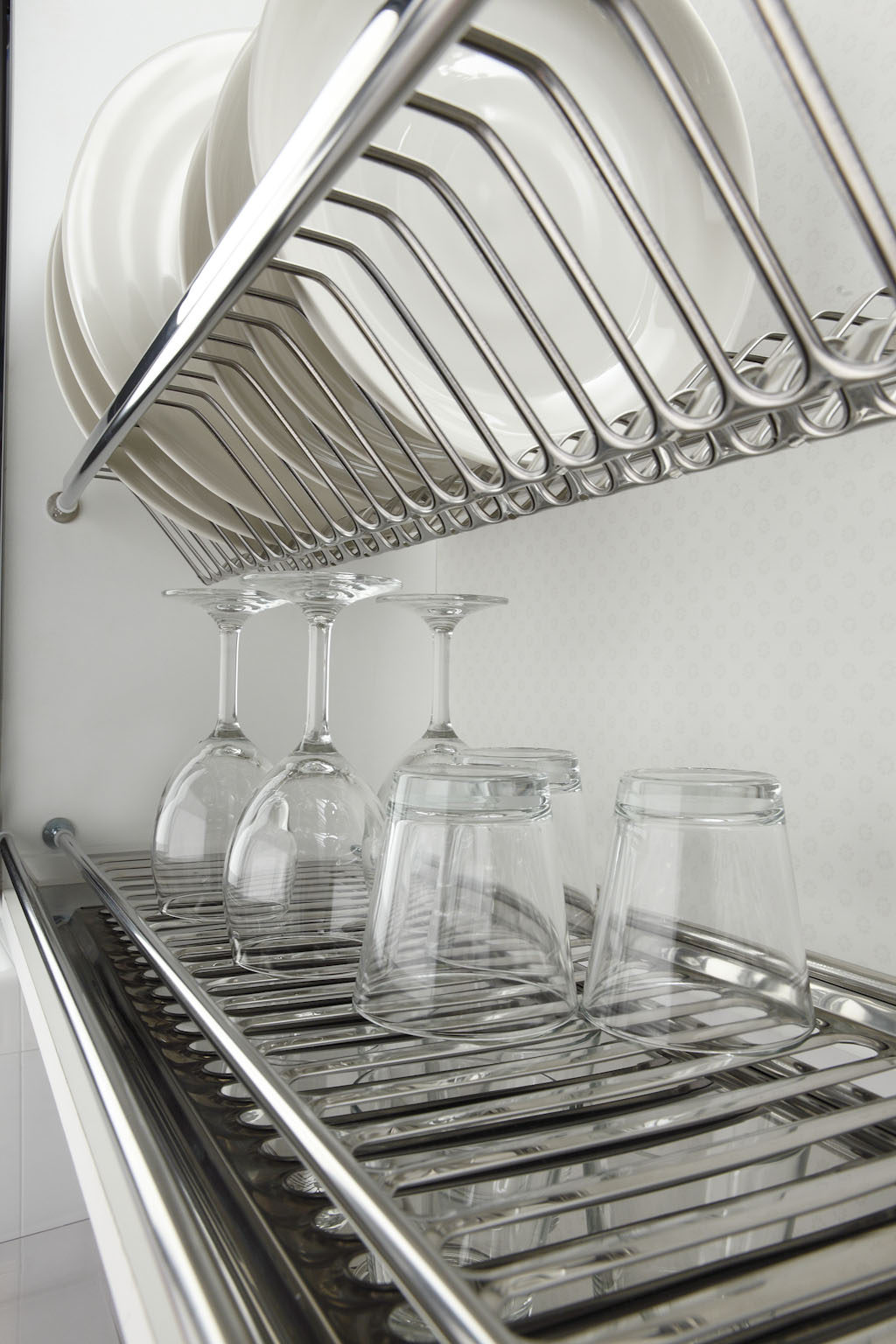 Сушка для посуды, пружинная фиксация, 900мм, нержавейка