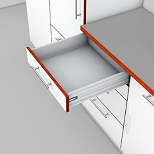 TANDEMBOX plus, TIP-ON BLUMOTION, высота K 500, 65кг, серый