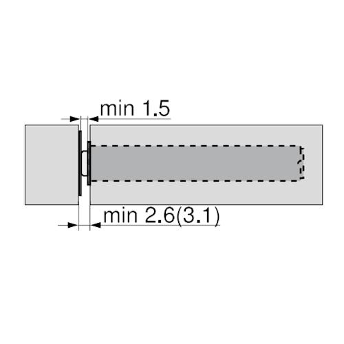 TIP-ON длинный d10x76мм, для вклад. и высок. дверей H от 1300мм, черный (пластик)