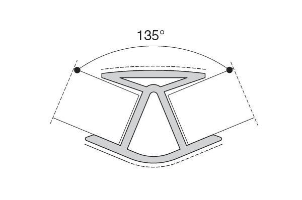 Угол наружный 135гр. Алюм. H=100мм (алюм.)