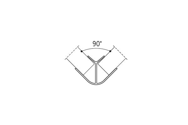 Угол наружный 90гр. Алюм. H=100мм (алюм.)