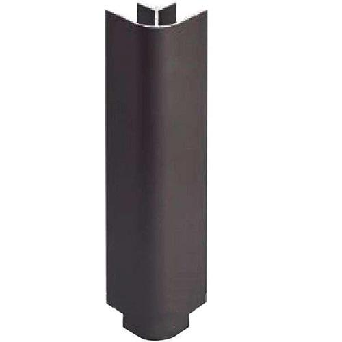 Угол наружный 90гр. черный глянец H=100мм (пластик)