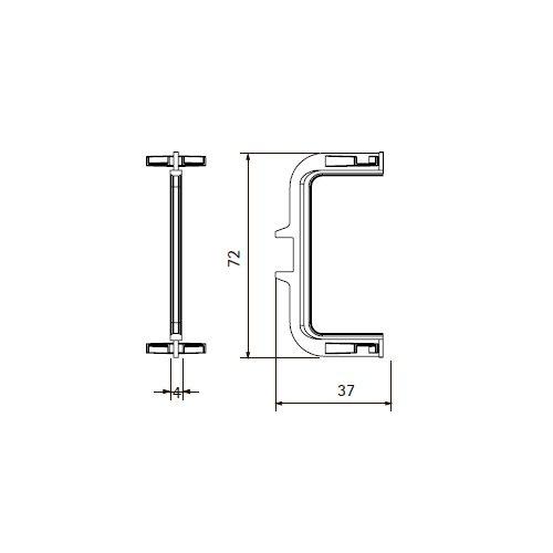 Уголок соединительный внутр. для С-образной ручки Gola, Алюм