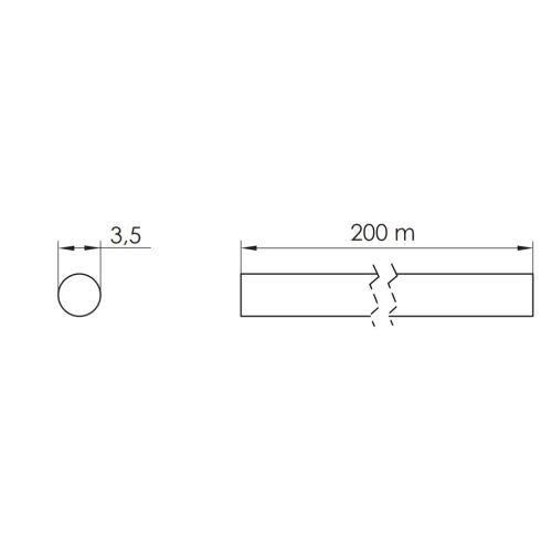 Уплотнитель d=3,5мм для стеклянных полок, ПВХ (рулон -200м)