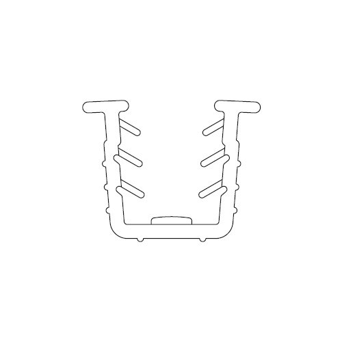 Уплотнитель для стекла Scorribase Mini (пластик), 3м