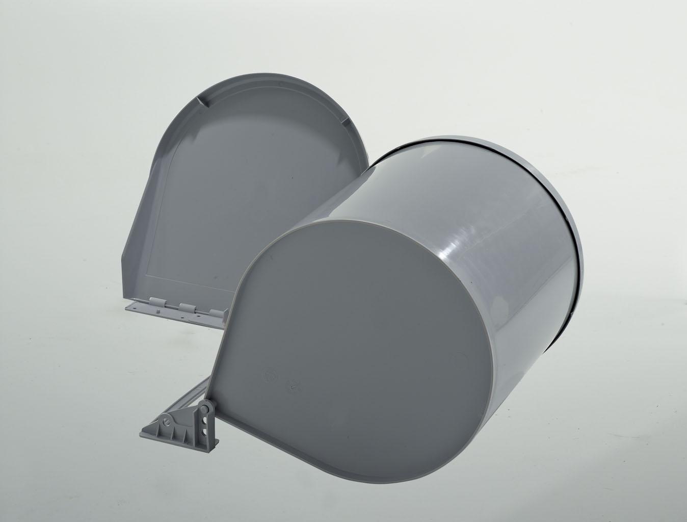 Ведро для мусора RING 10л открывается тросиком(265x320мм) на секцию от 400мм, нерж.сталь+пластик