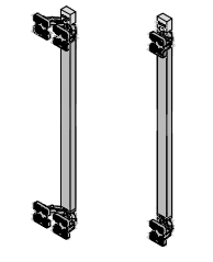 Вертикальный профиль синхронизатор L1200мм (комплект для 3х дверей), алюминий