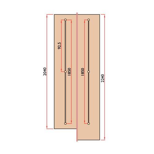 Выравниватель Laterale L=1850мм  (10 шт)